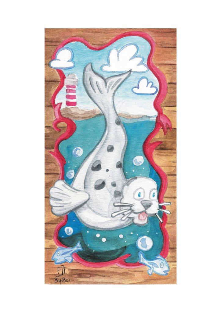 carte postale phoque-2